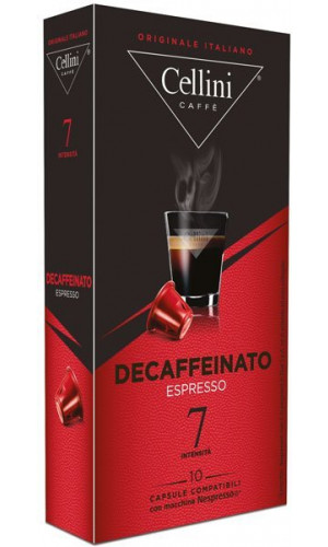 10 Cellini Decaffeinated Nespresso®* compatible capsules