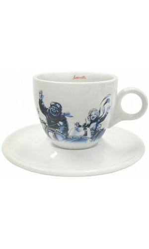 Lucaffe Cappuccino cup blue/white Blucaffe