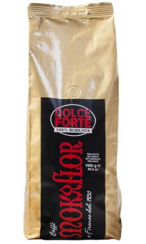 Mokaflor Dolce Forte coffee with 100% Robustabeans