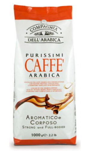Compagnia dell Arabica coffee Purissimi 1000g beans