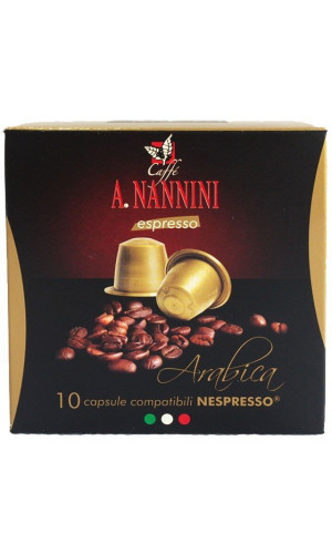 10 Nannini Arabica Nespresso®* capsules Alternative