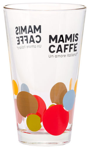 Mami's Caffe Latte Macchiato glass blue
