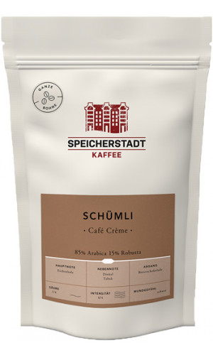 Speicherstadt Coffee Schümli 250g whole beans Cafe Creme