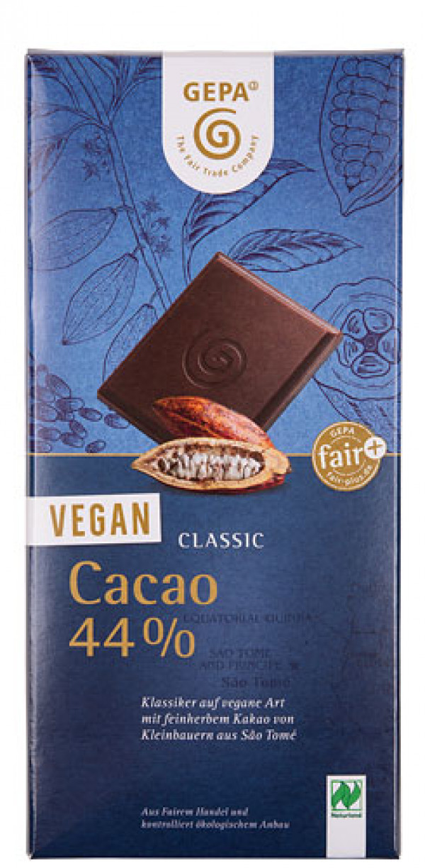 Vegan chocolate from GEPA 44% Cacao