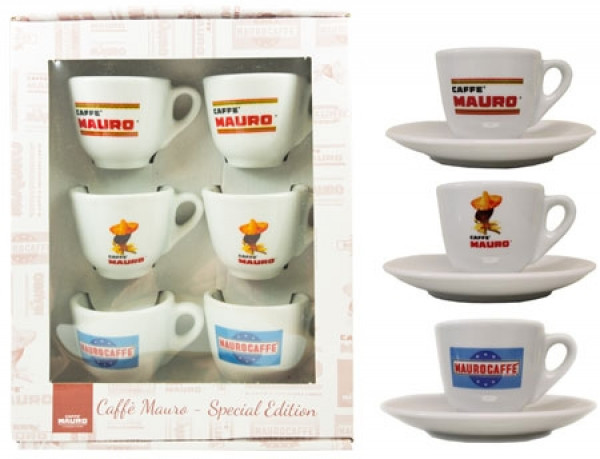 Mauro espresso cups 6 pieces in a gift set